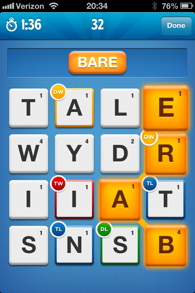 Ruzzle screenshot
